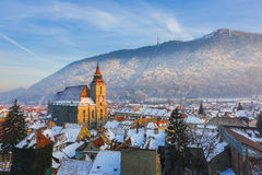 Brasov, Romania. Panoramic view of the downtown Brasov, Romania royalty free stock photos