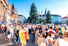 Brasov, Romania. Romanians from abroad protest against the gover Royalty Free Stock Images