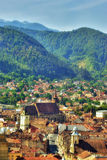 Brasov - Romania. View of the old city of Brasov, Romania Royalty Free Stock Photos