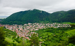 Brasov  Romania. View over old town of Brasov city, Romania Stock Photo