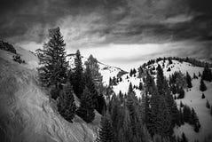 Brasov, Roumanie - 24 décembre 2013 : image faite à 1400 mètres d'altitude Photographie stock libre de droits