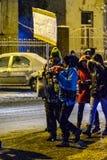 Brasov Rumänien: Alla för rättvisaprotesten December 2017 Royaltyfri Bild