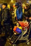 Brasov, Rumänien: Alle für den Gerechtigkeitsprotest im Dezember 2017 Lizenzfreie Stockfotografie