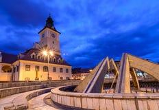 Brasov, Rumänien - 23. Februar: Das Rats-Quadrat am 23. Februar Lizenzfreie Stockfotografie