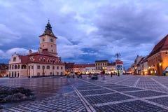 Brasov, Rumänien - 23. Februar: Das Rats-Quadrat am 23. Februar Stockbilder