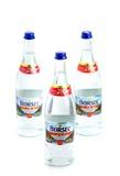 BRASOV, RUMÄNIEN - 27. November 2016: Mineralwasser Borsec in den glas Lizenzfreies Stockbild
