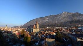Brasov - Rumänien - panoramische Ansicht Lizenzfreie Stockfotografie