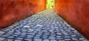Brasov narrow street Stock Photography