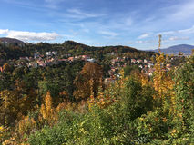 Brasov seen from Tampa mountain Royalty Free Stock Photos