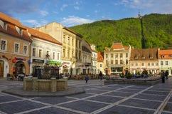 Brasov, Siebenbürgen, Rumänien 29. April 2015: Brasov-Rat Quadrat lizenzfreie stockbilder