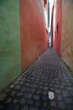 Brasov - Smalle Straat Stock Foto's