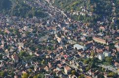 Brasov stadsmitt, Rumänien royaltyfri foto