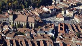 Brasov stadsmitt, Rumänien royaltyfri bild