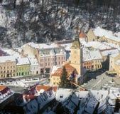 Brasov stadsmitt, Rumänien Royaltyfria Bilder
