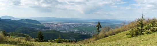 Brasov stadspanorama Arkivfoto