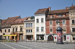 Brasov. Street in a sunny day stock photo