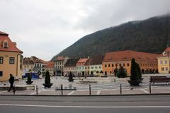Brasov streets in Old Center Stock Photography