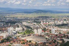 Brasov suburbs, Romania. Aerial view of Brasov city suburbs, Romania Royalty Free Stock Photography