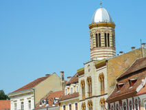 Brasov synagogue in mai town square, Romania. Royalty Free Stock Image