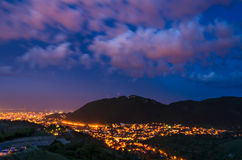 Brasov and Tampa mountain, Romania royalty free stock images