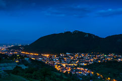 Brasov and Tampa mountain, Romania royalty free stock photography