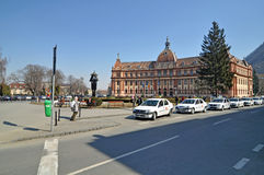 Brasov taxi street Stock Photos