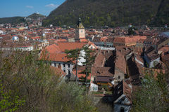 Brasov - top view Royalty Free Stock Photography