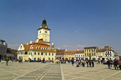 Brasov Town Square Royalty Free Stock Photo