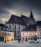 Brasov, Transilvania, Rumunia dziejowi budynki z średniowieczną architekturą Fotografia Stock
