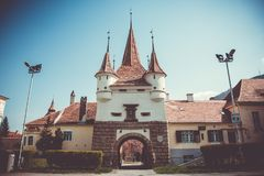 Catherine Gate, Brasov, Romania. Historical, monument. Brasov, Transylsvania, Romania. Ecaterina Gate Catherine`s Gate was built in 1526 for the access of Royalty Free Stock Photo