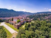 Brasov Transylvania Romania aerial view stock photography