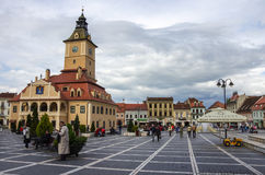 Brasov, Transylvania, Romania- April 29, 2015: Brasov Council Sq Stock Photography