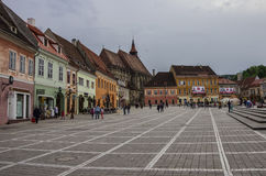 Brasov, Transylvania, Romania- April 29, 2015: Brasov Council Sq Stock Photo