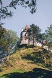 Brasov Transylvania romania Det medeltida slottet av kli Loppet och semestern till Europa, turnerar härlig solig dag kopieringsut royaltyfri fotografi