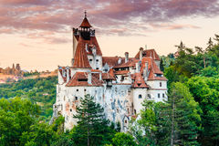 Brasov, Transylvania. Romania. The medieval Castle of Bran, known for the myth of Dracula stock images