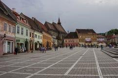 Brasov, Transylvania, Rumunia Kwiecień 29, 2015: Brasov rada Sq Zdjęcie Stock