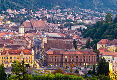 Brasov upper view Stock Images