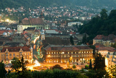 Brasov upper view Royalty Free Stock Photo