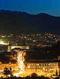 Brasov upper view royalty free stock image