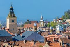 Brasov upper view-landmark Royalty Free Stock Photography