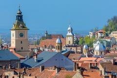 Brasov upper view-landmark royalty free stock photography