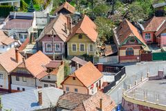 Brasov upper view-landmark Stock Image