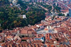 Brasov upper view3 Stock Photography