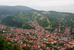 Brasov upperview - old city Stock Images