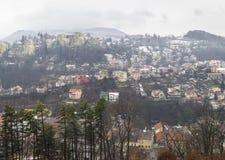 Brasov, vecchia città nell'inverno Fotografia Stock Libera da Diritti