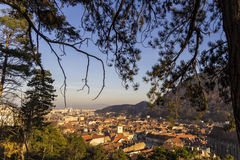 Brasov view from above the mountain Royalty Free Stock Photography