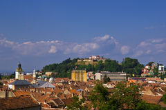 Brasov view with the Citadel Royalty Free Stock Image