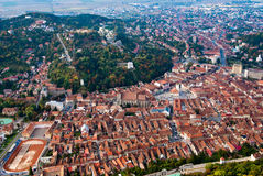 Brasov view2 supérieur Images stock