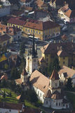 Brasov, vista aerea Immagine Stock Libera da Diritti