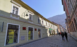Brasov walk street Royalty Free Stock Images